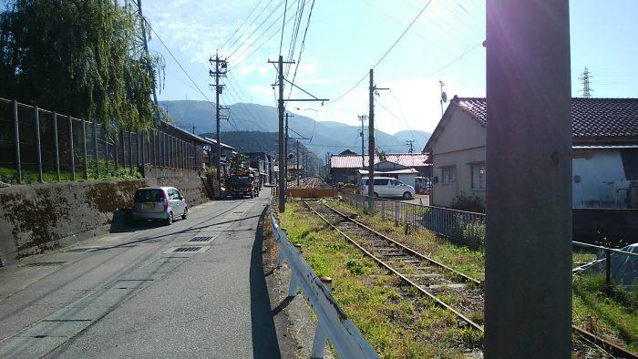 中鶴来駅から加賀一の宮駅方面