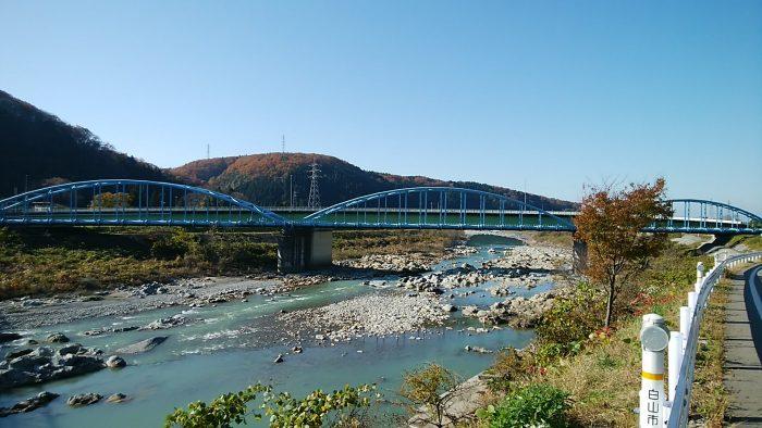 加賀一の宮駅付近 手取川