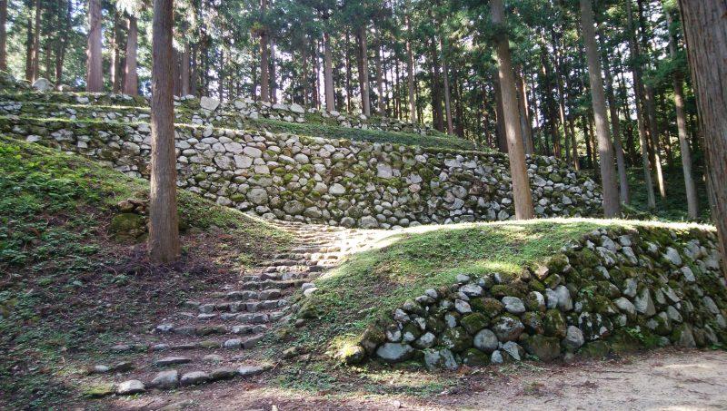 七尾城跡 石垣