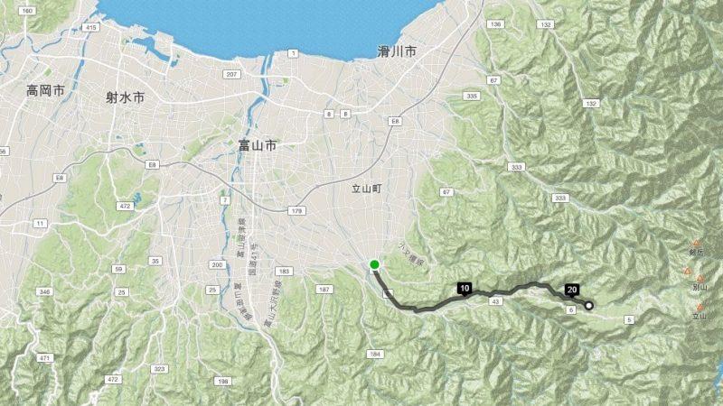 岩峅寺駅から弥名滝へ